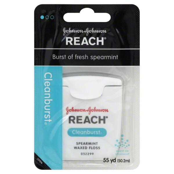 Reach: Clean Burst Spearmint Interdental, 55 yd