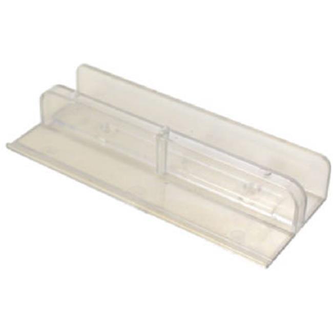Tub enclosure sliding shower door bottom guide