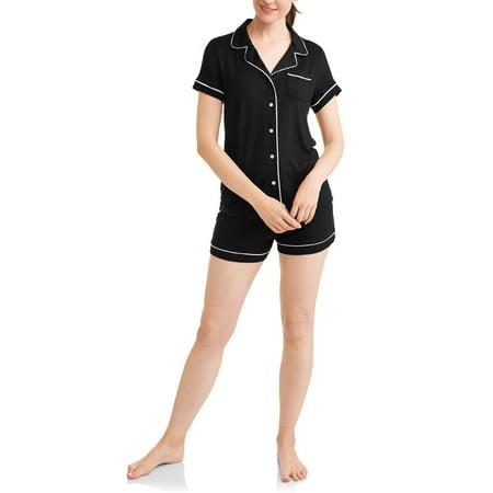 Secret Treasures Women's and Women's Plus Short Sleeve Notch Collar & Short Pajama Set - Pajama City Promo Code