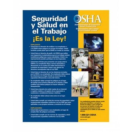 OSHA Job Safety and Health Spanish Version 2012 Poster Print (11 x 13)
