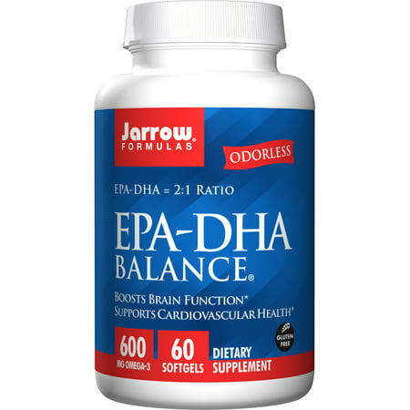 Jarrow Formulas EPA-DHA Balance, Boosts Brain Function, 60 -