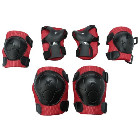 6 in 1 Sports Wrist Elbow Knee Guards Pad Set Protective Gear Roller  Skating Cycling Scooter for - 1 Gear Set