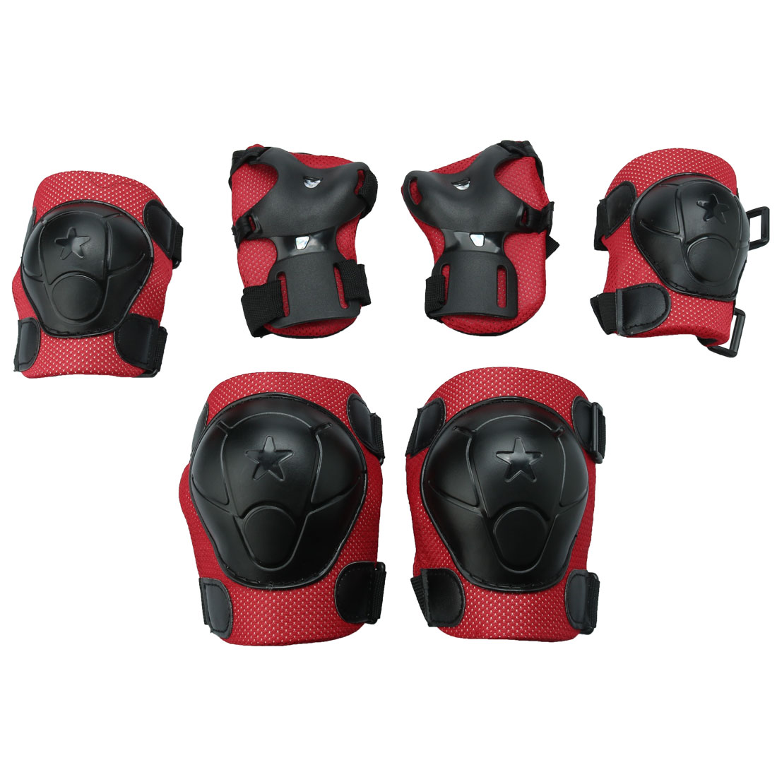 6 in 1 Sports Wrist Elbow Knee Guards Pad Set Protective Gear Roller  Skating Cycling Scooter for