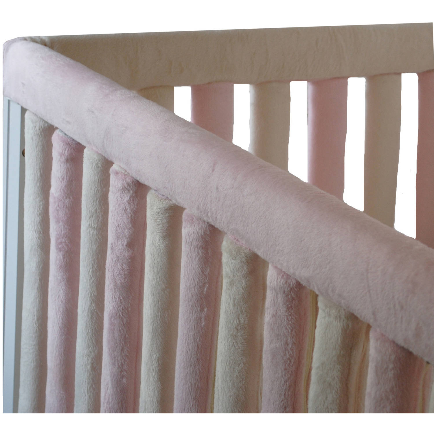 "Go Mama Go Designs Pink & Cream 52"" x 6"" Reversible Teething Guard"