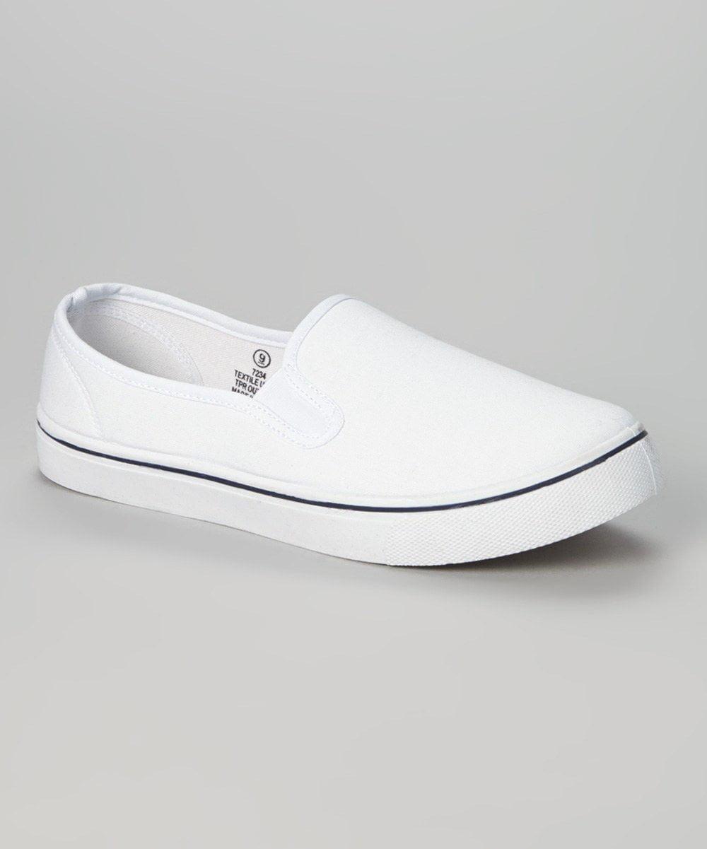8cf6da0d938 Zig Zag Mens White Canvas Slip-On 10 M US - Walmart.com