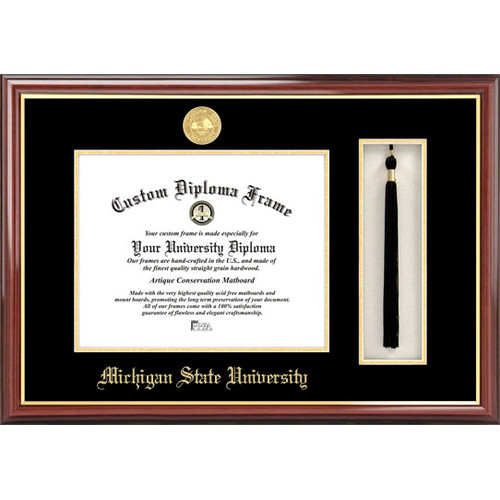 "Michigan State University, Spartan, 8.5"" x 11"" Tassel Box and Diploma Frame"