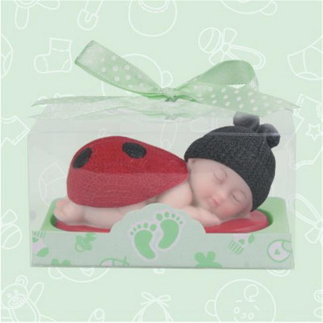 De Yi 21015W-RD Baby Shower Ladybug Favors in Red