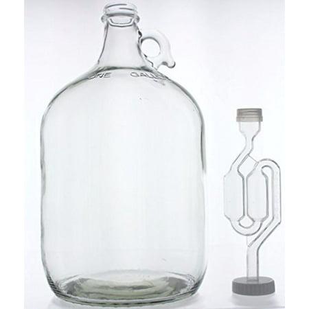 1 Gallon Glass Wine Fermenter-INCLUDES Twin Bubble