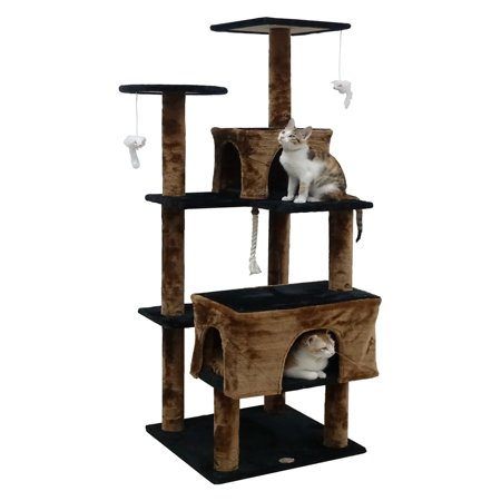 Go Pet Club Cat Tree Condo 61 in., Brown