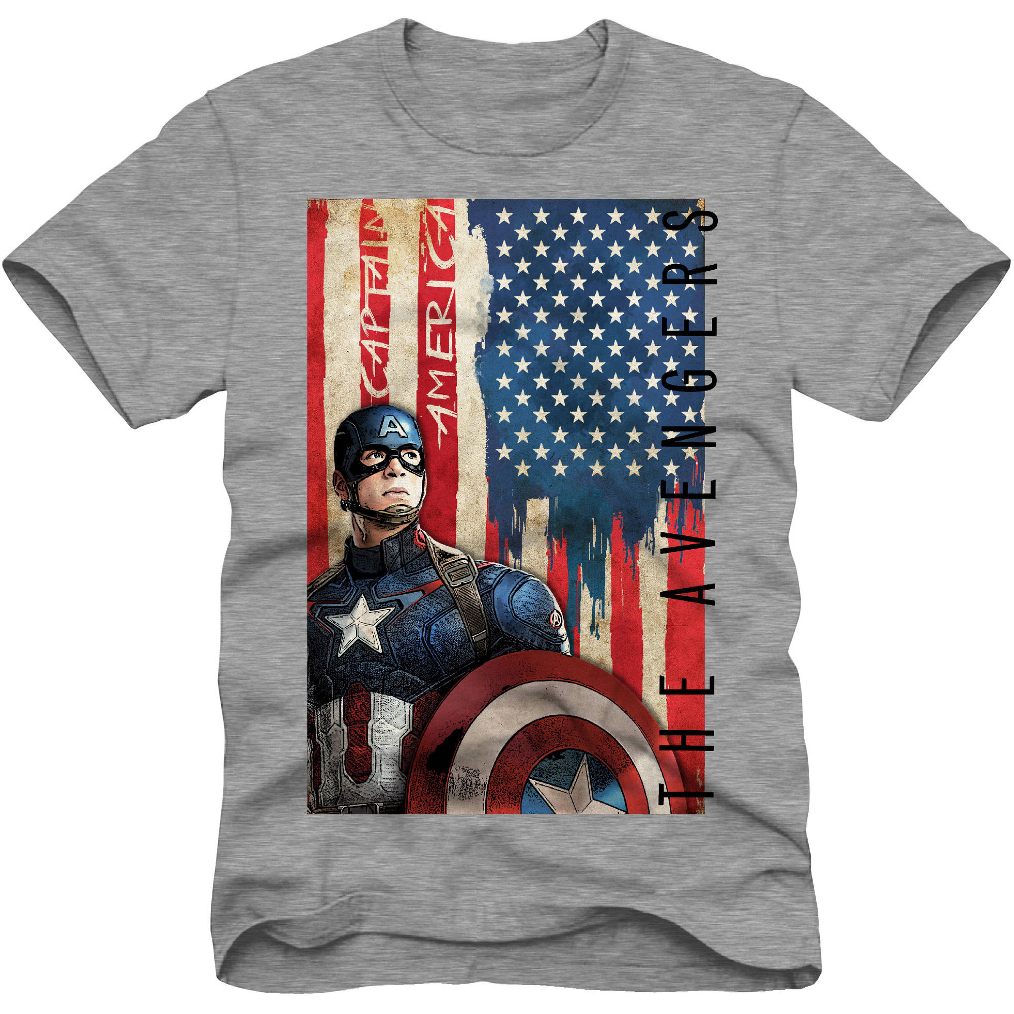 Marvel Captain America Avengers Boys Graphic Tee