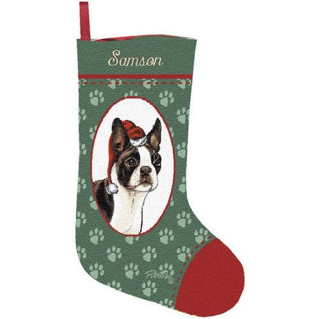 personalized dog breed christmas stocking assorted breeds