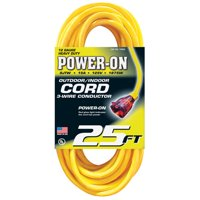 25' Power-On Outdoor/Indoor Cable, Yellow