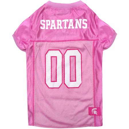 Pets First College Michigan State Spartans Pet Pink Jersey, 4 Sizes