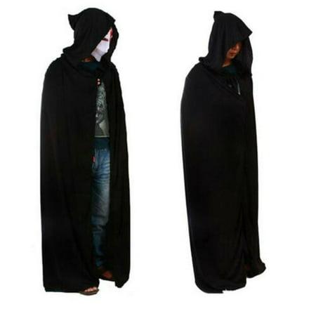 Scary Halloween Costumes Babies (Halloween Costume Adult Death Cosplay Costumes Black Black Hooded Cloak)