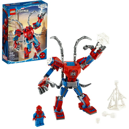 LEGO Marvel Spider-Man: Spider-Man Mech 76146 Superhero Building Toy with Mech and Minifigure (152 Pieces)