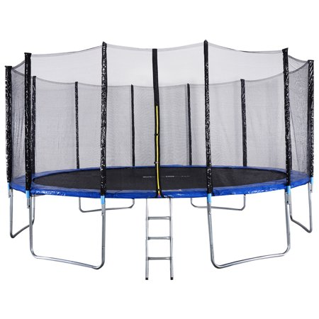 Gymax 16FT Trampoline Combo Bounce Jump Safety Enclosure Net