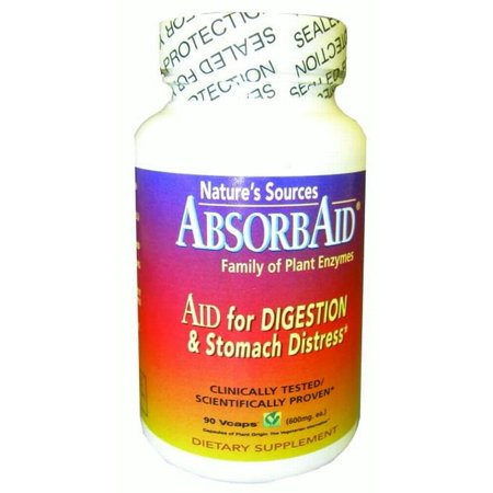 Absorbaid Digestive Support Veggie Caps, 90 Ct (Support 90 Caps)