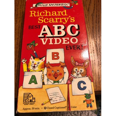 VHS Richard Scarrys Best ABC Video Ever VHS Ships N
