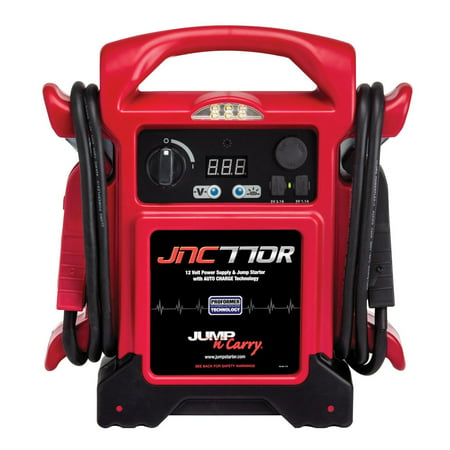 "Jump Starter Jump-N-Carry JNC770R 1700Amp 12V 68"" Super Flexible Welding Cable!"