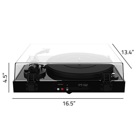 Fluance RT83 Reference High Fidelity Vinyl Turntable Record Player with Ortofon 2M Red Cartridge, Speed Control Motor, Solid Wood Plinth, Vibration Isolation Feet - Piano Black - image 4 de 7