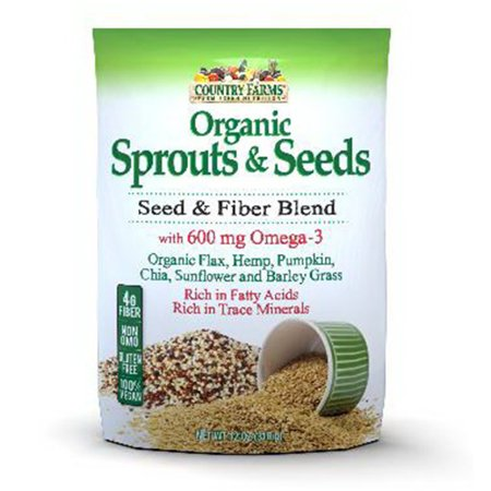 Country Farms Organic Sprouts And Seeds Capsules, With 600 Mg Omega 3 - 12 Oz - Walmart.com
