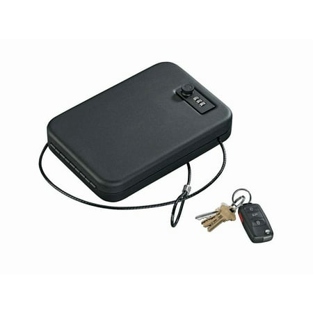 STACK-ON COMBINATION LOCK PORTABLE SECURITY CASE 6.5u0022 X 9.5u0022 X 1.75u0022 BLACK