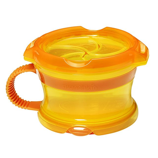 Munchkin Click Lock Deluxe Snack Catcher - Orange