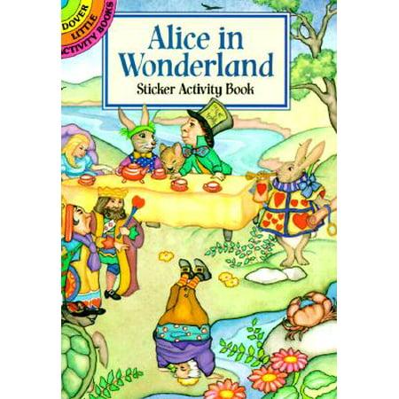 Alice in Wonderland Sticker Activity Book - Alice In Wonderland For Adults