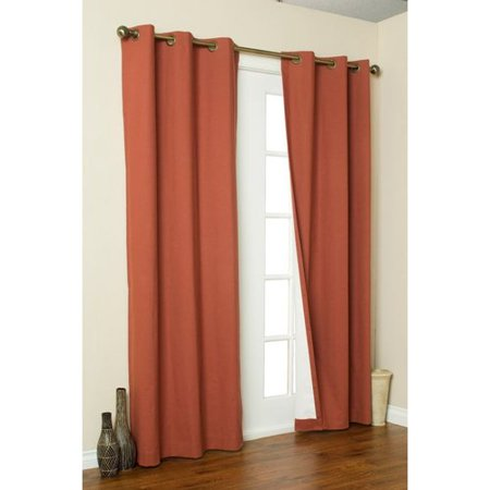 Weathermate Insulated Grommet Top Curtain Pair Terracotta