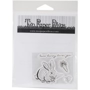 "Two Paper Divas Clear Stamps 6""X4.5""-Some Bunny"