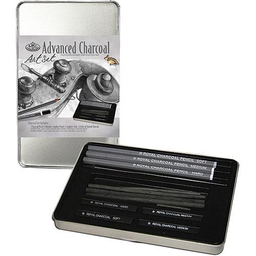 Advanced Charcoal Art Set W/Tin