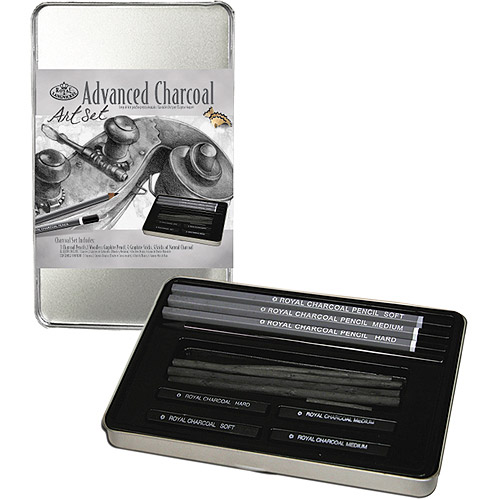 Advanced Charcoal Art Set W/Tin