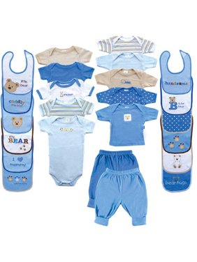 Luvable Friends Baby Boy Baby Shower Gift Set, 24pc