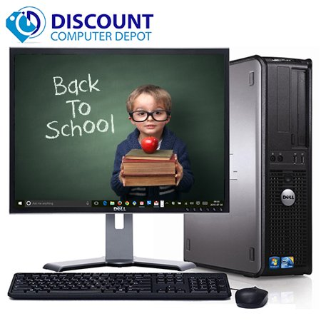 Refurbished Desktop Computers Fast Dell Optiplex Desktop Bundle Pc With Windows 10  Intel Core 2 Duo Processor  4Gb Memory  Dvd  Wifi And 17  Lcd With 1 Year Warranty