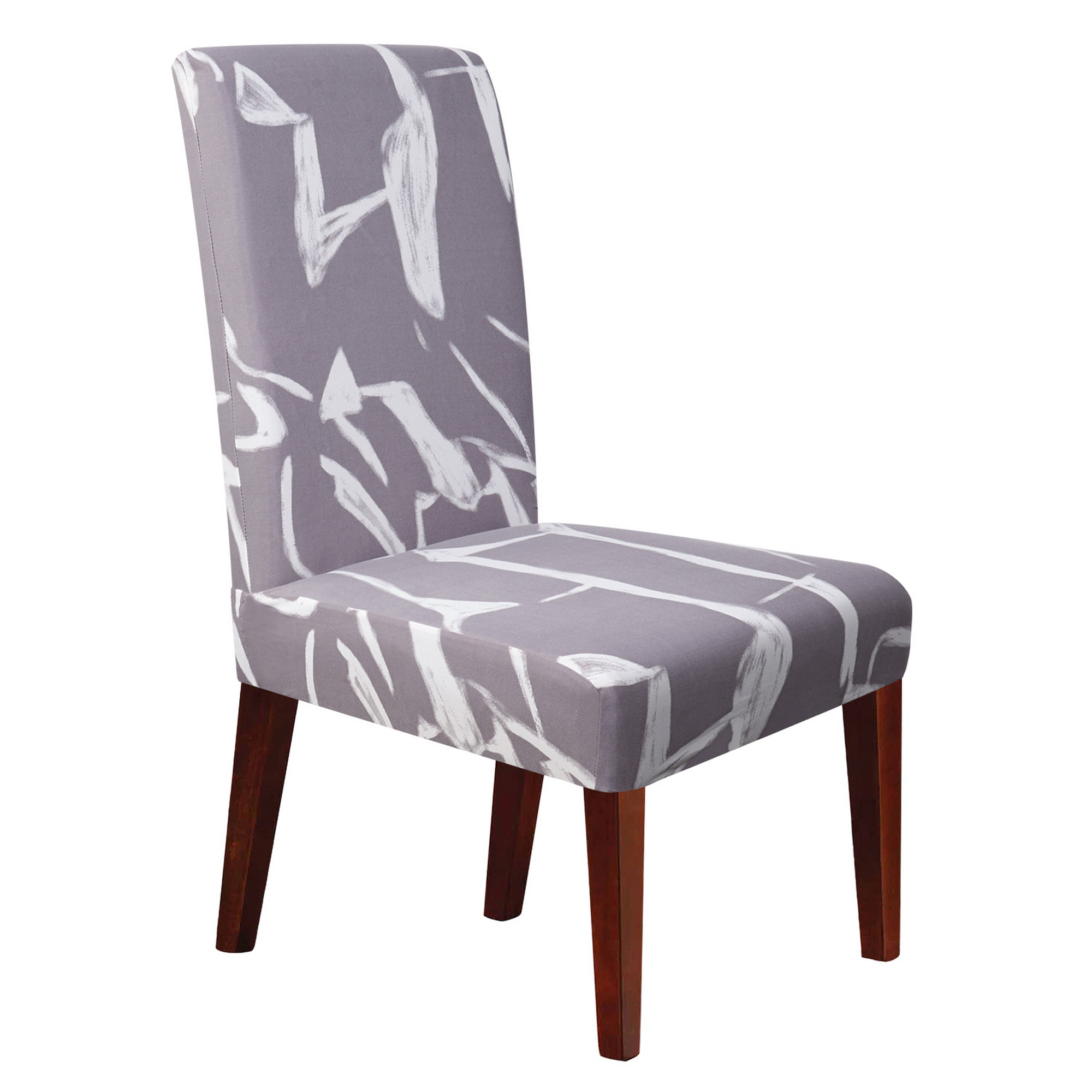 Soft Spandex Stretchy Removable Washable Seat Protector Short Dining Room Chair Slipcovers(GY2)