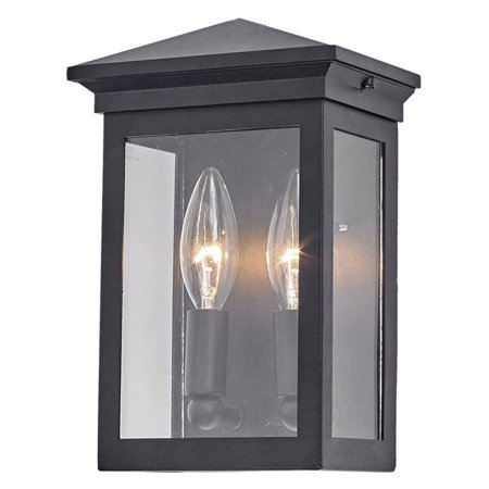 ArtCraft Gable AC816 Outdoor Wall Lantern Combining a sleek, rust-resistant cast-aluminum frame with two candelabra lights, the ArtCraft Gable AC816 Outdoor Wall Lantern perfectly blends contemporary and traditional elements. Clear glass panels allow the illumination from your bulbs to shine through in all directions. Artcraft Since 1955, Artcraft Lighting has operated on the belief that beautiful lighting should be as much about the experience as the light fixtures themselves. And to create that meaningful experience, Artcraft Lighting strives to provide lighting products that are designed to meet your decor, lifestyle, and budget needs - all while ensuring top quality and impeccable customer service. With Artcraft Lighting products, you can reap the benefits of more than 60 years of lighting experience.