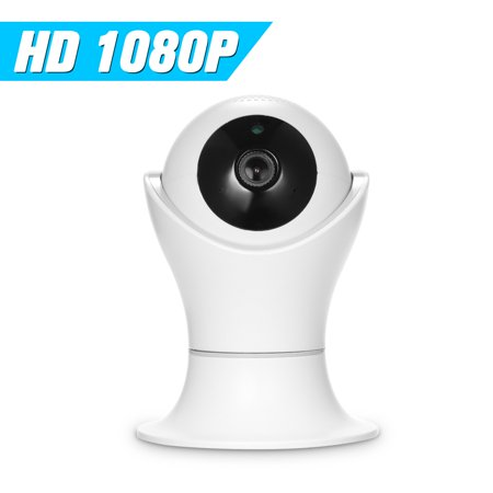 1080P WiFi IP camera 360 Degree Panoramic Navigation Pan/Tilt Wireless Camera CCTV Baby Monitor WiFi Camera for Baby/Nanny/Elder/Dog/Pets Monitoring with APP, Pan/Tilt, 2-way Audio, Motion Detection H - image 1 of 7
