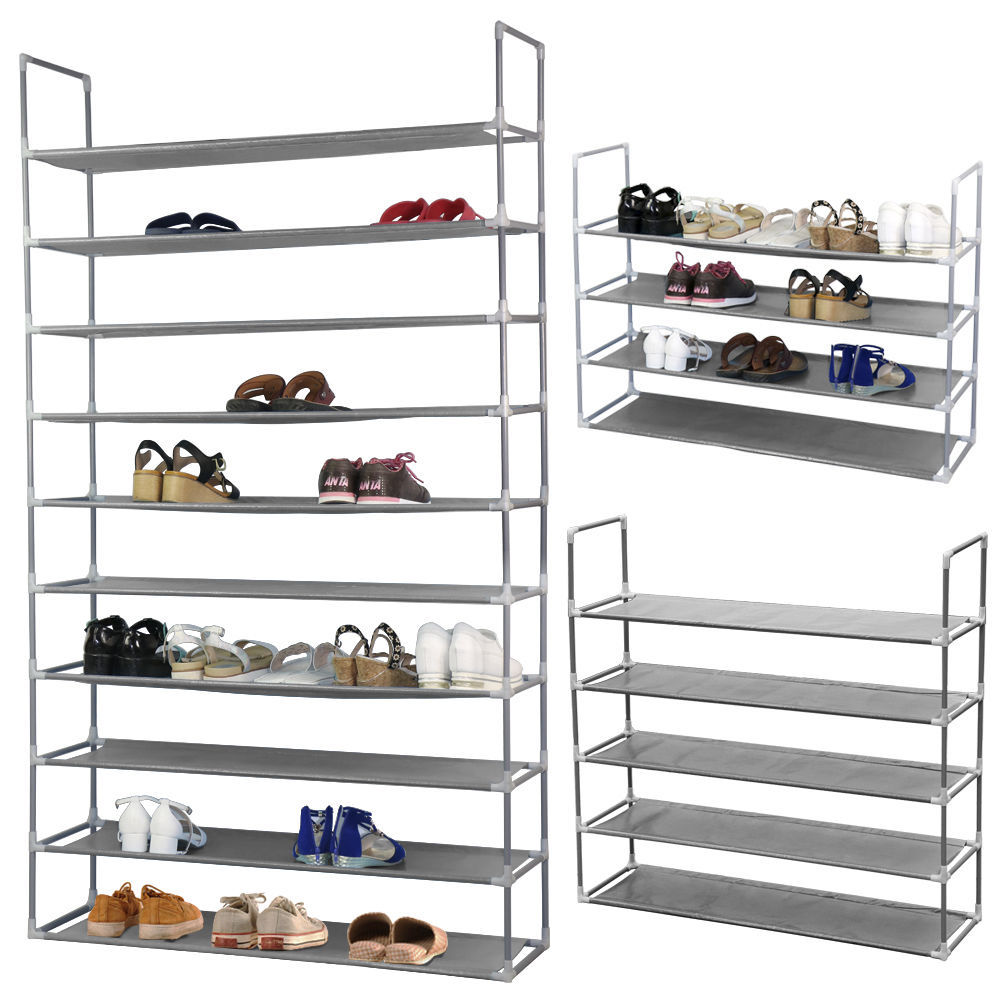 Zimtown 50 Pair 10 Tier Shelf Space Saving Home Portable Closet Storage  Organizer Cabinet Shoe Rack