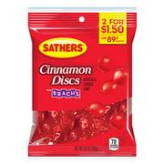 Sathers Cinnamon Discs Hard Candy, 3.6 Ounce Bag