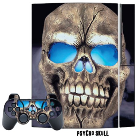 Mightyskins Protective Skin Decal Cover Sticker for Playstation 3 Console + two PS3 Controllers - Haunted Skull