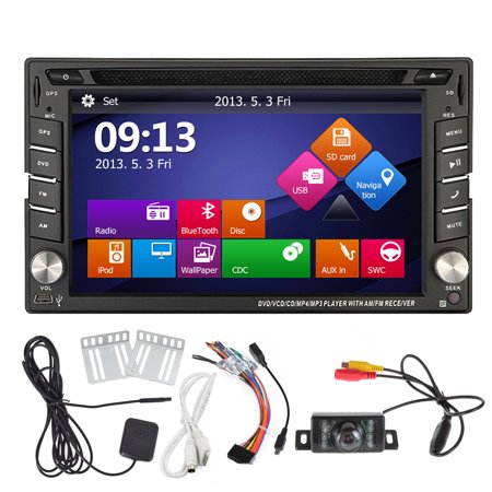 Eincar Windows Ce 6 0 Double Din Stereo In Dash Car Dvd Player Gps Navigation With Lcd Touch Screen Support Bluetooth Usb Sd Hdd Fm Am Rds Radio Subwoofer 720P Video Steering Wheel Control Plus Rever