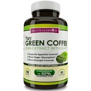 Green Coffee Bean Extract with GCA® / Chlorogenic Acids - Key Weight Loss Ingredient / 90 Count Vegetarian Capsules-1600mg/day / New Extra Strength Formula / Fast Weight Loss Supplement