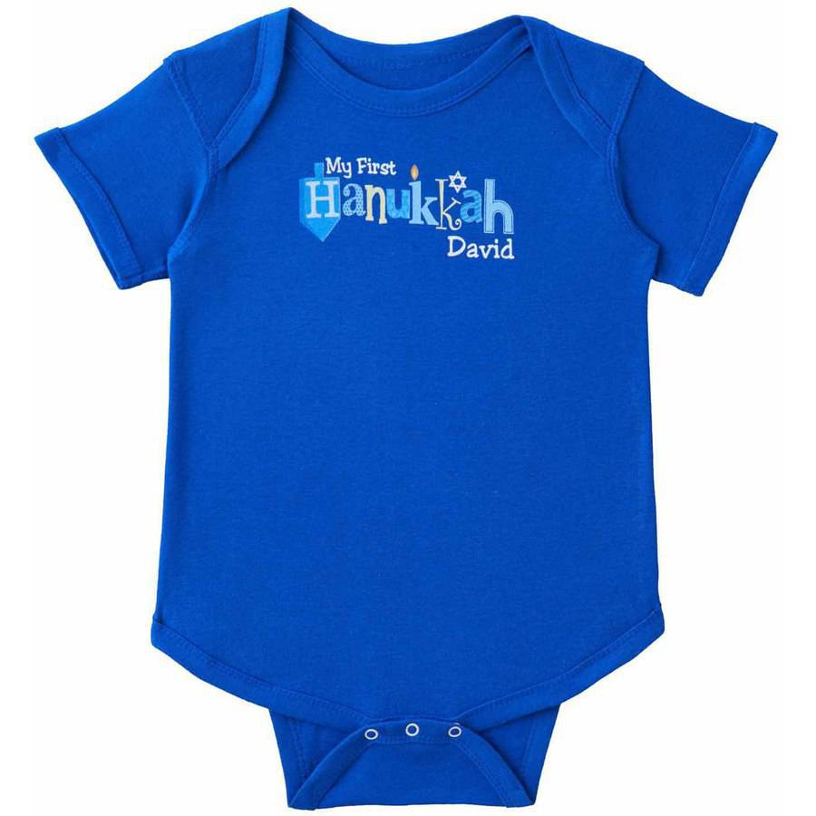 Personalized Baby's First Hanukkah Infant Bodysuit