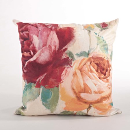 Saro Flower Market Floral Design Down Filled Throw Pillow - Walmart.com