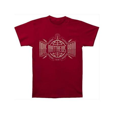 Dave Matthews Band Men's  Radio Tower Slim Fit T-shirt Cardinal