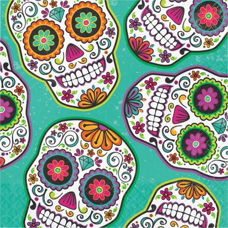 Pack of 192 Multicolored Halloween Disposable Party Luncheon Napkins 6.5