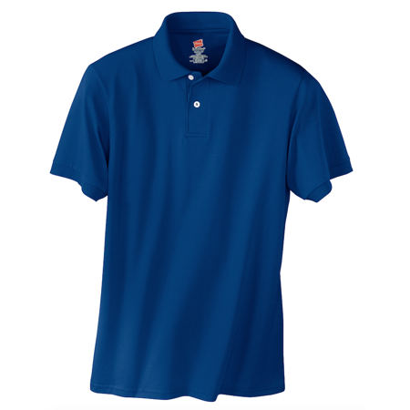 Hanes Eco Smart Jersey Knit Sport Polo Shirt