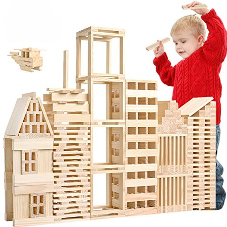 LOOBANI 100 Pcs Kids Toddlers Building Blocks Wooden Toys Set Suitable for Boys & Girls Above 3 Years Old - image 1 de 4