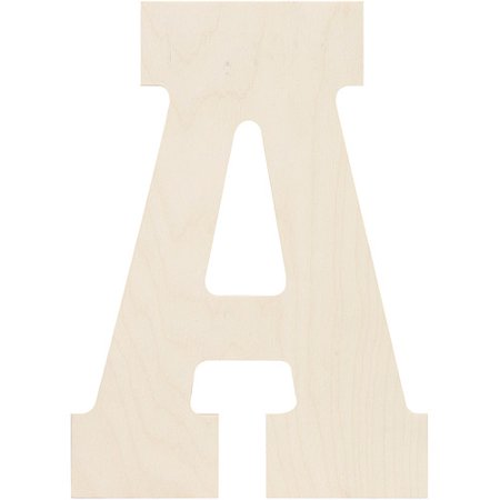 Baltic Birch Collegiate Font Letters & Numbers, 13.5