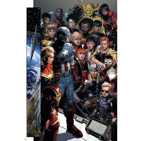 Infinity No. 1: Captain America, Captain Marvel, Iron Man, Black Widow, Thor, Hawkeye, Falcon Poster Wall